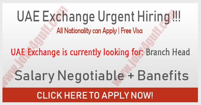 UAE Xchange Jobs